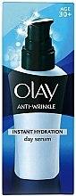 Düfte, Parfümerie und Kosmetik Feuchtigkeitsspendendes Anti-Falten Tagesserum für das Gesicht - Olay Anti-Wrinkle Instant Hydration Serum