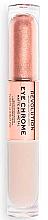 Düfte, Parfümerie und Kosmetik Doppelseitiger flüssiger Matte & Metal Lidschatten - Makeup Revolution Eye Chrome Liquid Eyeshadow