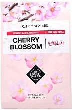 Düfte, Parfümerie und Kosmetik Straffende und aufhellende Tuchmaske für das Gesicht mit Kirschblüte - Etude House Therapy Air Mask Cherry Blossom