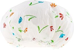 Düfte, Parfümerie und Kosmetik Duschhaube 9298 weiß mit Blumen - Donegal Shower Cap