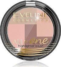Düfte, Parfümerie und Kosmetik Highlighter & Gesichtsrouge - Eveline Cosmetics All In One Highlighter Blush