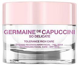 Düfte, Parfümerie und Kosmetik Beruhigende Gesichtscreme für trockene Haut - Germaine de Capuccini So Delicate Tolerance Rich Care