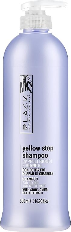 Anti-Gelbstich Shampoo für weißes und blondes Haar - Black Professional Line Yellow Stop Shampoo