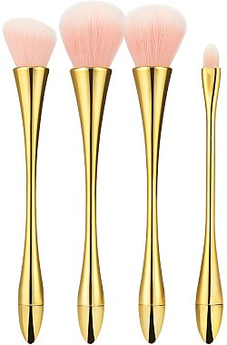 Professionelles Make-up Pinsel Set 4 St. rose-gold - Tools For Beauty