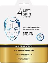 Düfte, Parfümerie und Kosmetik Glättende Anti-Falten Tuchmaske mit Schneckenschleim - Lift4Skin Sheet Mask Snail Mucin