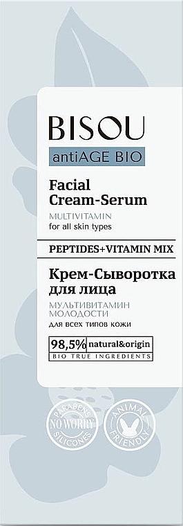 Creme-Serum für das Gesicht für alle Hauttypen mit Peptiden - Bisou AntiAge Bio Facial Cream Serum