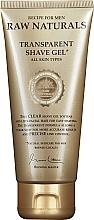 Düfte, Parfümerie und Kosmetik Rasiergel für alle Hauttypen - Recipe For Men RAW Naturals Transparent Shave Gel