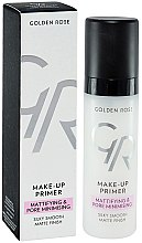 Düfte, Parfümerie und Kosmetik Make-up Base - Golden Rose Make-Up Primer Mattifying & Pore Minimising
