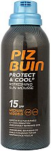 Düfte, Parfümerie und Kosmetik Erfrischende Körpermousse mit Sonnenschutz SPF 15 - Piz Buin Protect & Cool Refreshing Sun Mousse SPF15