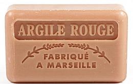 Düfte, Parfümerie und Kosmetik Handgemachte Naturseife mit rotem Ton und Sheabutter - Foufour Savonnette Marseillaise Argile Rouge