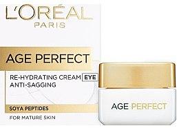 Düfte, Parfümerie und Kosmetik Feuchtigkeitsspendende Augencreme für reife Haut - L'Oreal Paris Age Perfect Re-Hydrating Eye Cream
