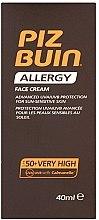 Düfte, Parfümerie und Kosmetik Sonnenschutzcreme für das Gesicht - Piz Buin Allergy Face Cream SPF50