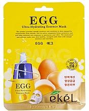 Düfte, Parfümerie und Kosmetik Feuchtigkeitsspendende Tuchmaske für das Gesicht mit Eigelb-Extrakt - Ekel Egg Ultra Hydrating Mask