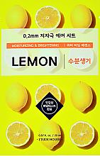 Düfte, Parfümerie und Kosmetik Feuchtigkeitsspendende und aufhellende Gesichtsmaske mit Zitronenextrakt - Etude House Therapy Air Mask Lemon