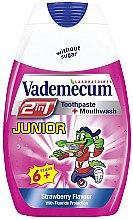 Düfte, Parfümerie und Kosmetik 2in1 Zahnpasta und Mundwasser mit Erdbeergeschmack ab 6 Jahre - Vademecum Junior 2in1 Toothpaste + Mouthwash