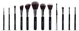 Düfte, Parfümerie und Kosmetik Make-up Pinselset 12-tlg. - Nanshy Masterful Collection Onyx Black