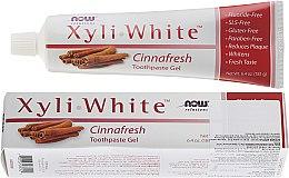Düfte, Parfümerie und Kosmetik Gel-Zahncreme mit Zimt - Now Foods XyliWhite Toothpaste Gel