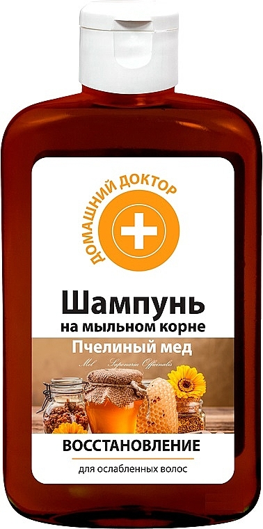 Regenerierendes Shampoo mit Honig für schwaches und strapaziertes Haar - Hausarzt