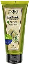 Düfte, Parfümerie und Kosmetik Nährende und regenerierende Haarmaske mit Oliven- und Klettenextrakt - Melica Organic Regenerative Hair Mask
