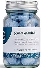 Düfte, Parfümerie und Kosmetik Mundwassertabletten mit englischer Pfefferminze - Georganics Natural Mouthwash Tablets English Peppermint