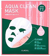 Düfte, Parfümerie und Kosmetik Beruhigende und reinigende Bio-Cellulosemaske für das Gesicht mit Birkensaft - Elroel Aqua Clean Mask