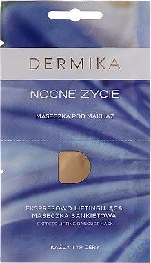 Make-up-Maske für die Nacht für alle Hauttypen - Dermika Night Life Express Lifting Banquet Mask