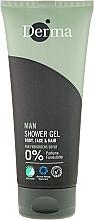 Düfte, Parfümerie und Kosmetik Körper, Gesicht und Haar Duschgel - Derma Man Body Face & Hair Shower Gel