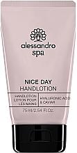 Düfte, Parfümerie und Kosmetik Feuchtigkeitsspendende Handlotion mit Hyaluronsäure und Kaviar - Alessandro International Spa Nice Day Hand Lotion