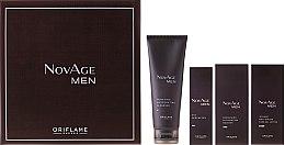 Düfte, Parfümerie und Kosmetik Gesichtspflegeset - Oriflame NovAge Men (Gesichtsgel-Creme/50ml + Gesichtsserum/50ml + Augengel/15ml + Reinigungsprodukt/125ml)