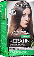Düfte, Parfümerie und Kosmetik Haarpflegeset - Kativa Keratin Anti-Frizz Xtra Shine (Haarmaske 150ml + Shampoo 30ml + Conditioner 30ml)