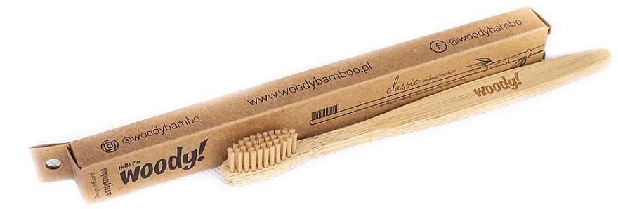 Bambuszahnbürste mittel Classic beige - WoodyBamboo Bamboo Toothbrush Classic — Bild N1