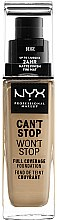 Düfte, Parfümerie und Kosmetik Foundation - NYX Professional Makeup Can't Stop Won't Stop Full Coverage Foundation