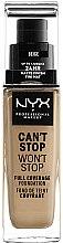 Düfte, Parfümerie und Kosmetik Foundation - NYX Professional Makeup Can't Stop Won't Stop Full Coverage Foundation