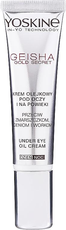 Anti-Falten Creme für Augen und Augenlider mit Lifting-Effekt - Yoskine Geisha Gold Eye Cream