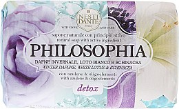 Düfte, Parfümerie und Kosmetik Detox-Naturseife mit weißem Lotus und Echinacea - Nesti Dante Natural Soap Winter Daphne, White Lotus & Echinacea Philosophia Collection