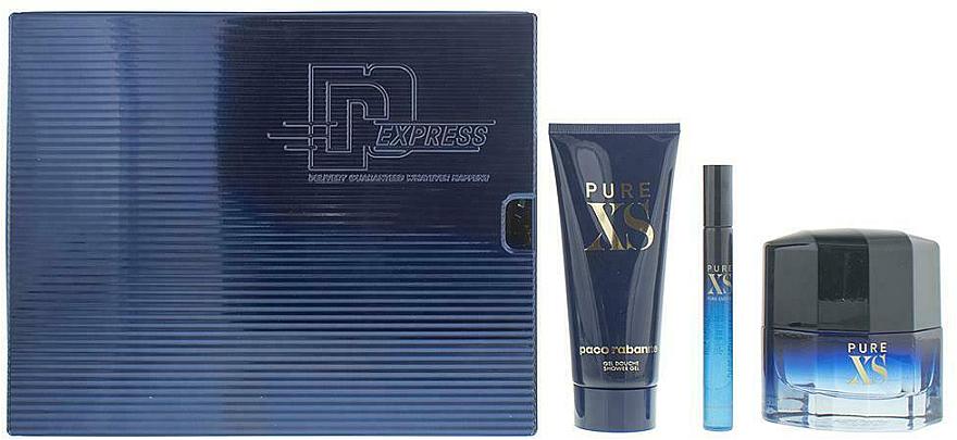 Paco Rabanne Pure XS - Duftset (Eau de Toilette 50ml + Eau de Toilette Mini 10ml + Duschgel 100ml)