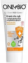 Düfte, Parfümerie und Kosmetik Pflegende und antibakterielle Handcreme mit Mandelmilch - Only Bio Silver Med Care+ Almont Milk Hand Cream