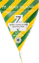 Düfte, Parfümerie und Kosmetik Anti-Irritation Nachtmaske fär das Gesicht mit Centella Asiatica - May Island Seven Days Secret Centella Cica Sleeping Pack