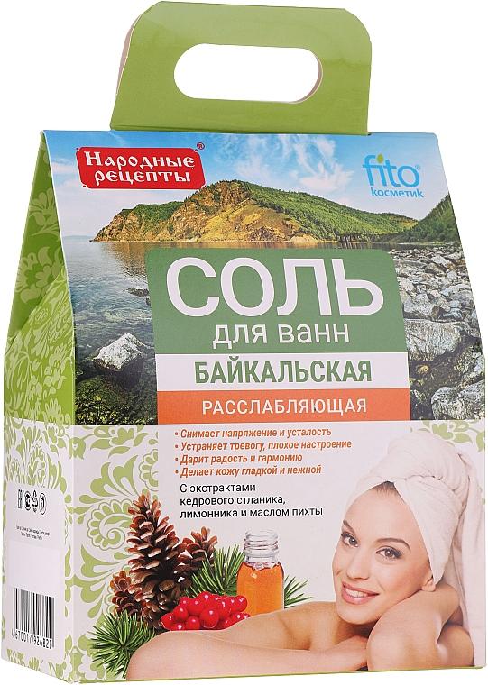Entspannendes und feuchtigkeitsspendendes Badesalz mit Zitronengras- und Zwergkiefernextrakt und Tannenöl - Fito Kosmetik