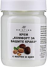 Düfte, Parfümerie und Kosmetik Fußcreme mit Kastanie und Walnuss - Hristina Cosmetics