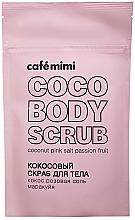 Düfte, Parfümerie und Kosmetik Körperpeeling mit Kokosnuss, rosa Salz, Passionsfrucht - Cafe Mimi