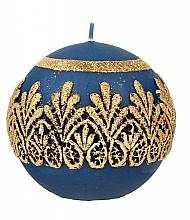 Düfte, Parfümerie und Kosmetik Dekorative Kerze in Kugelform blau 10 cm - Artman Koronka Lace Christmas