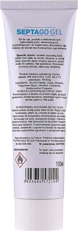 Antibakterielles Handgel mit Minzduft - Septago Gel — Bild N2