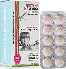 Düfte, Parfümerie und Kosmetik Biotin Tabletten mit Silikone für gesundes Haar - Noble Health