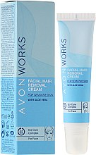 Düfte, Parfümerie und Kosmetik Gesichtshaarentfernungscreme für empfindliche Haut mit Aloe und Jojobaöl - Avon Works Facial Hair Removal Cream