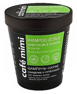 Reinigendes Shampoo-Peeling für mehr Volumen mit Meersalz, Minzöl und Ingwer-Extrakt - Cafe Mimi Scrub Shampoo