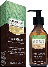 Düfte, Parfümerie und Kosmetik Haarserum mit Kokosnuss und Arganöl - Arganicare Coconut Hair Serum For Dull, Very Dry & Frizzy Hair