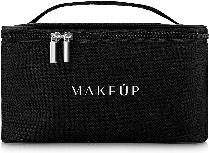 Kulturbeutel 22x16x13 cm schwarz - MakeUp