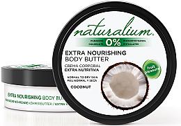 Düfte, Parfümerie und Kosmetik Intensiv nährende Körperbutter für normale und trockene Haut mit Kokosduft - Naturalium Coconut Extra Nourishing Body Butter