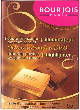 Kompaktpuder für Gesicht - Bourjois Delice De Poudre Bronzing Duo Powder + Highlighter — Bild N1